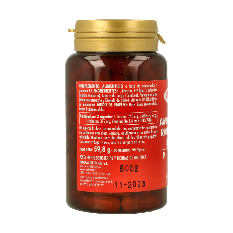 Aminoácidos Ramificados BCAA Plus – Integralia – 90 cápsulas