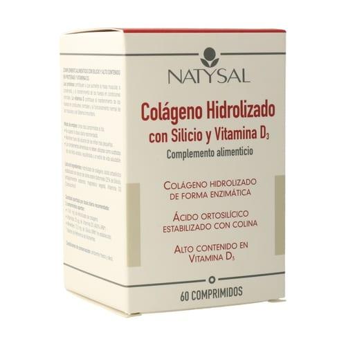 Colágeno Hidrolizado con Silicio y Vitamina D3 – Natysal – 60 comprimidos