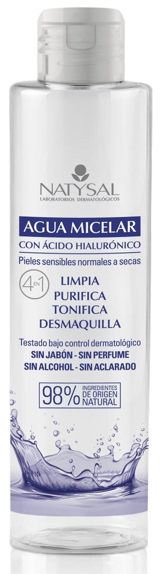 Agua Micelar con Acido Hialuronico – Natysal – 250 ml