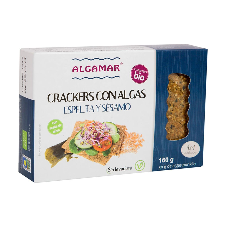 Crackers con Algas, Espelta y Sésamo Bio – Algamar – 160 gr