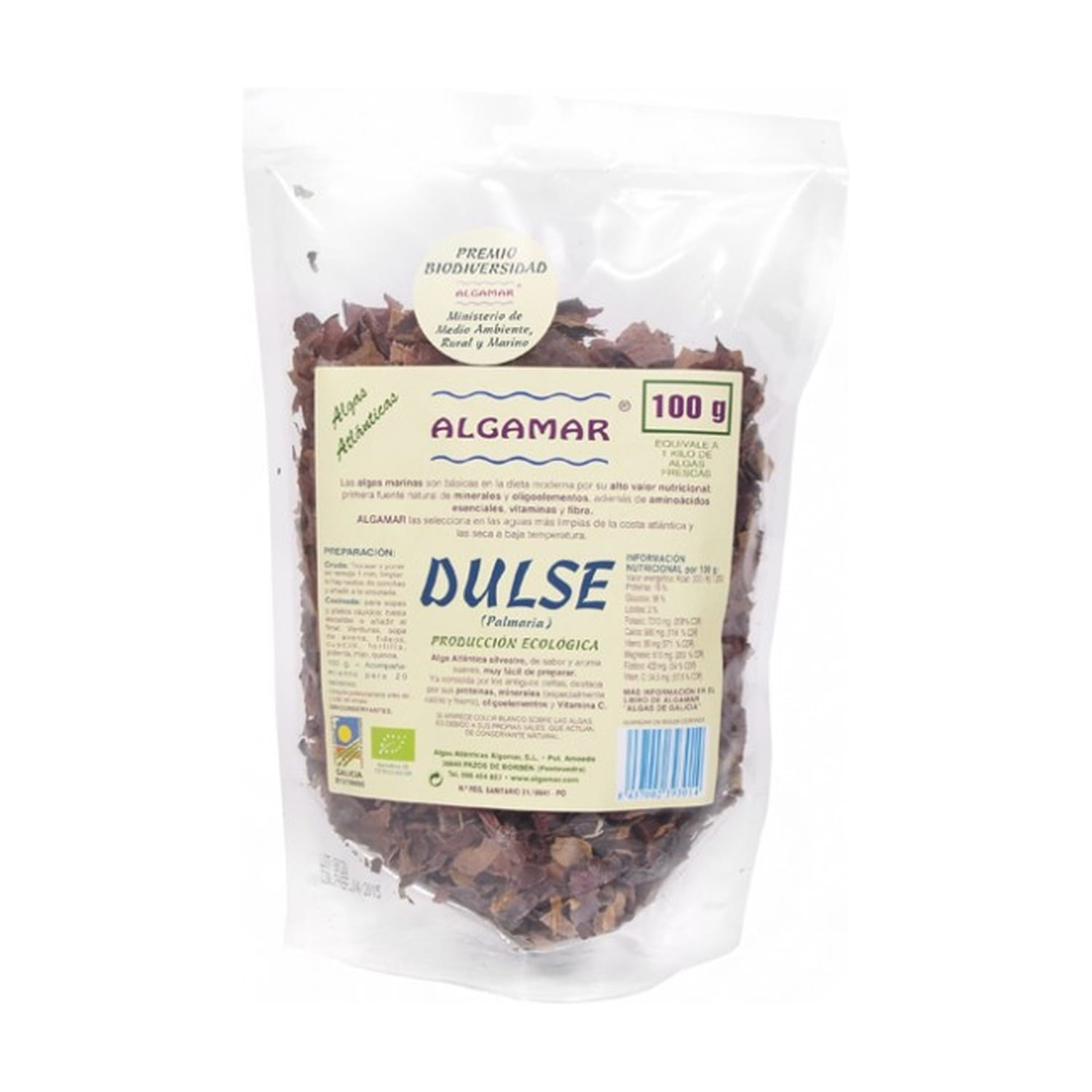 Algas Dulse – Algamar – 100 gr