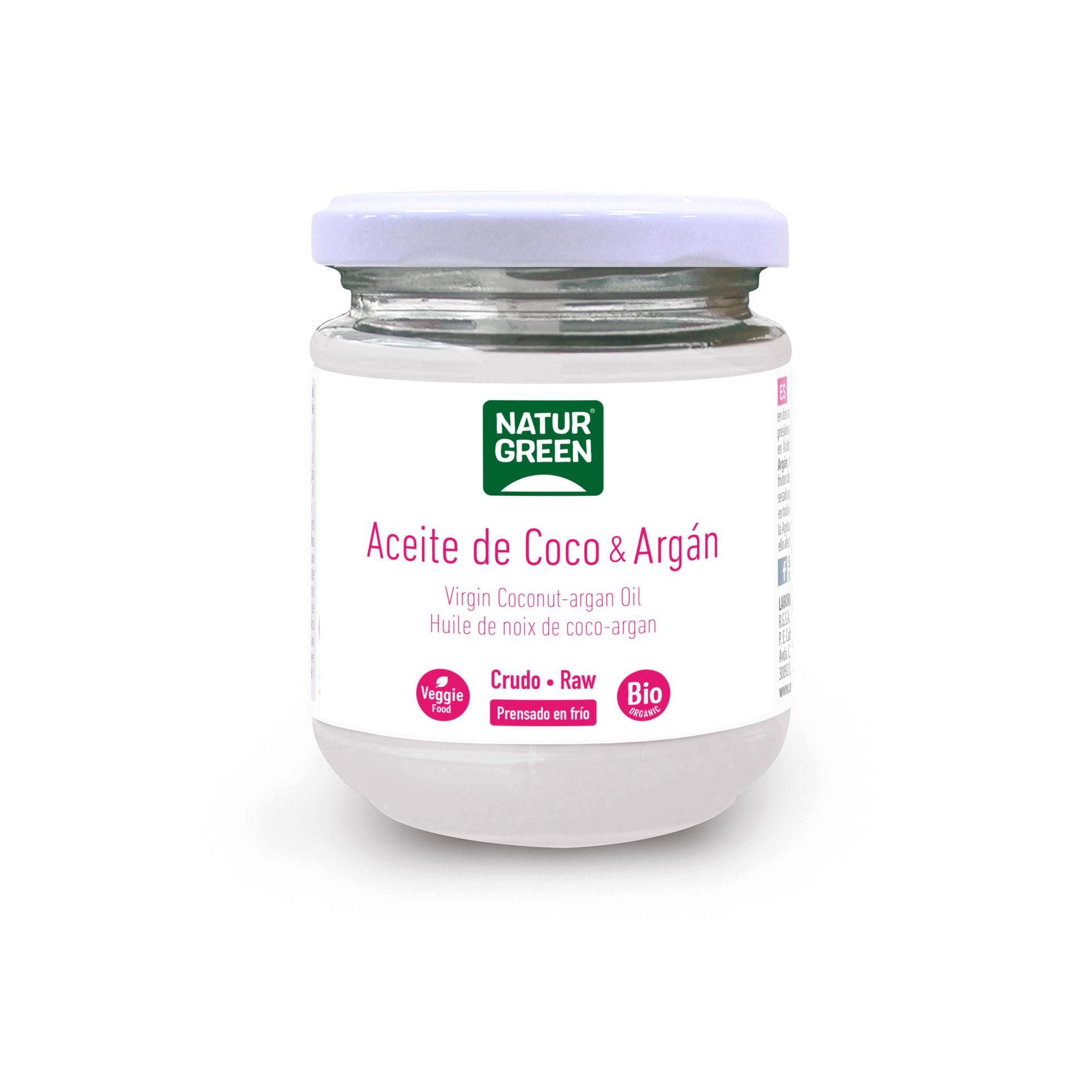 Aceite de Coco-Argán Bio – NaturGreen – 215 ml/200 gr