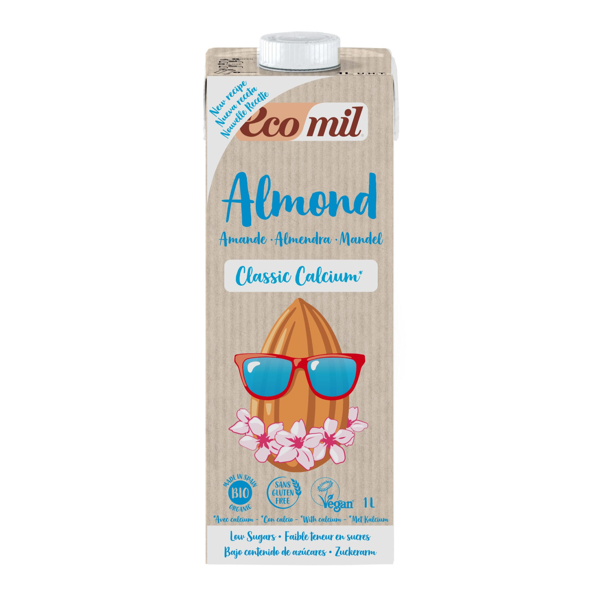 EcoMil Almond Classic Calcio Bio 1L