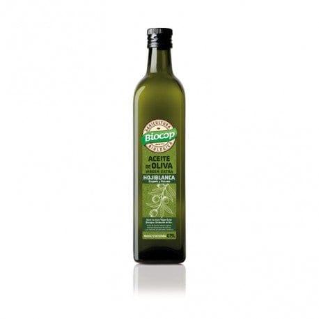 Aceite de oliva virgen extra  hojiblanca Biocop 75 cl