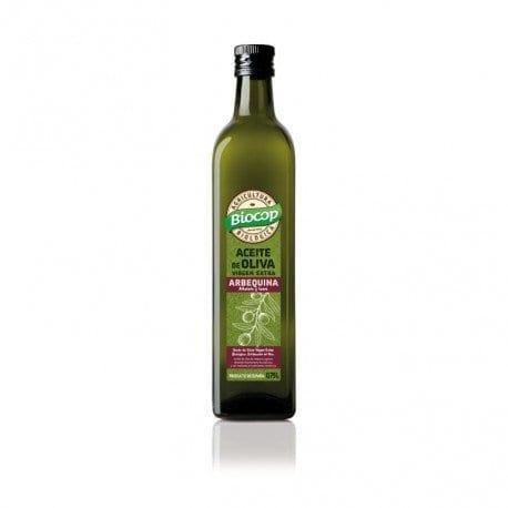 Aceite de oliva virgen extra arbequina Biocop 75 cl.