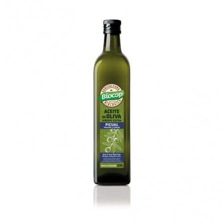 Aceite de oliva virgen extra picual Biocop 75 cl.